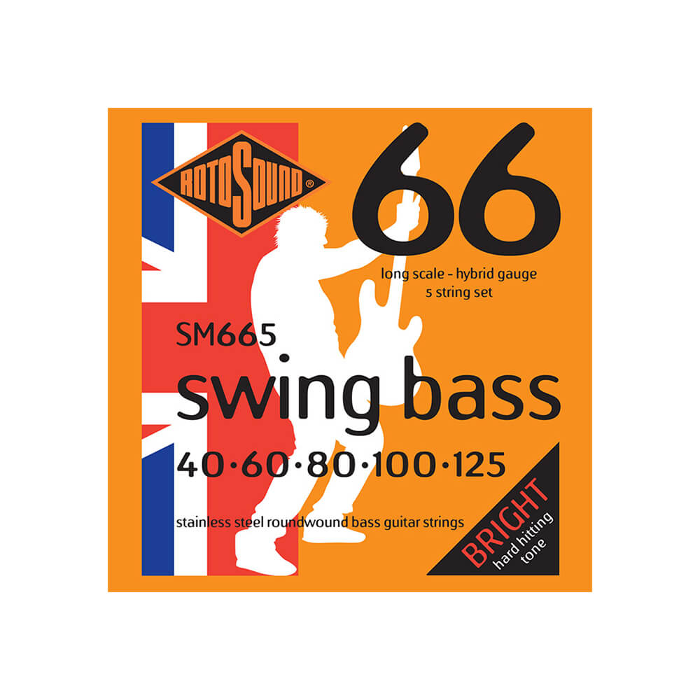 Rotosound SM665 Swing Bass 66 5-Strings, Stainless Steel, 40-125