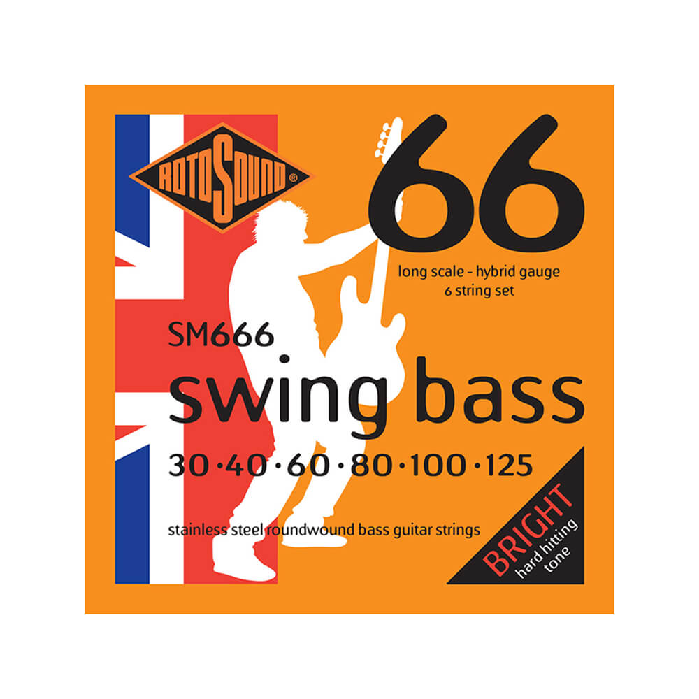 Rotosound SM666 Swing Bass 66 6-Strings, Stainless Steel, 30-125
