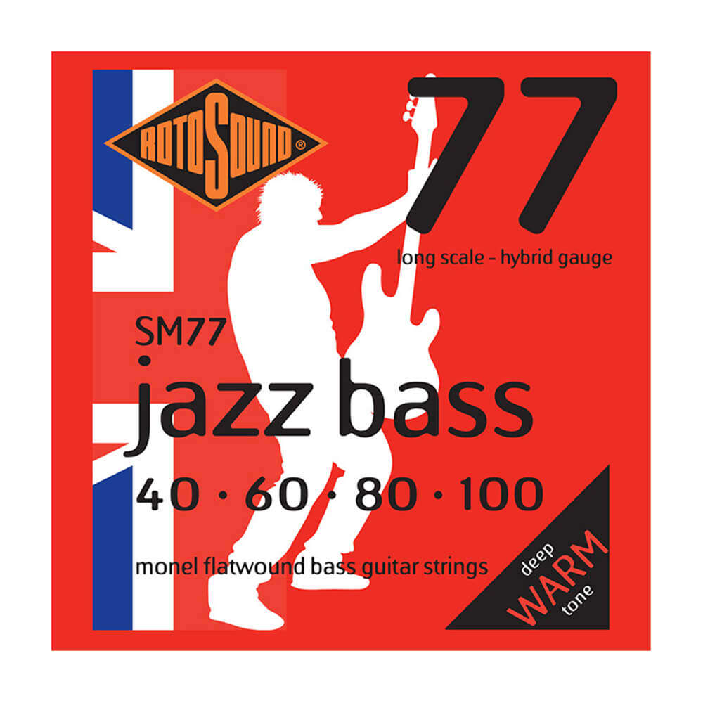 Rotosound SM77 Jazz Bass 77 4-Strings, Monel Flatwound, Hybrid, 40-100