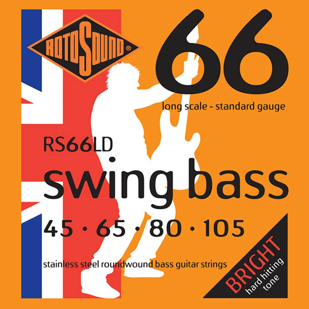 Rotosound RS66LD Swing Bass 66 4-Strings, Satinless Steel, 45-105