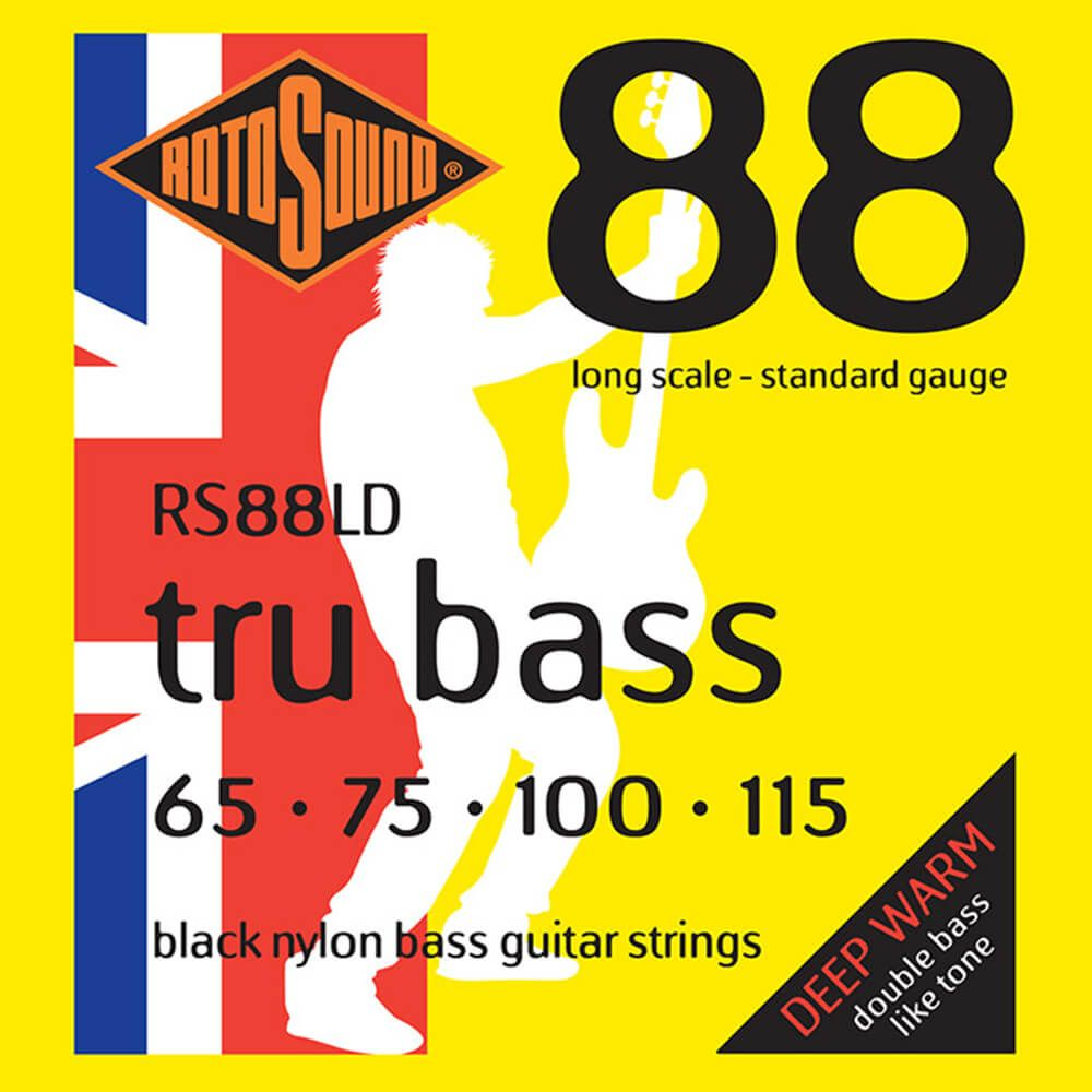 Rotosound RS885LD Tru Bass 88 4-Strings, Black Nylon Flatwound, 65-115
