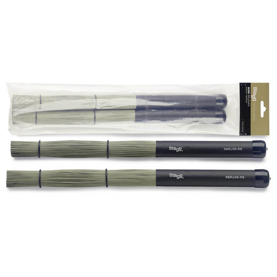 Stagg SBRU35-RS Straw Brushes Extra Dynamic