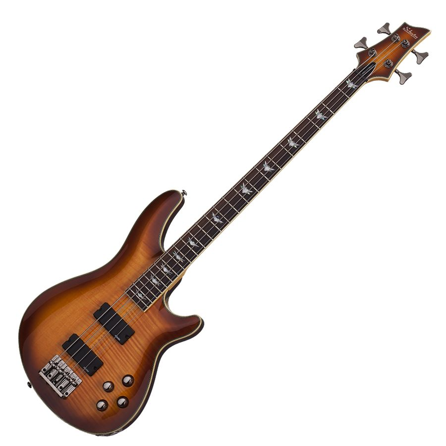 schecter omen extreme 4 bass guitar vintage sunburst rich tone music. Black Bedroom Furniture Sets. Home Design Ideas