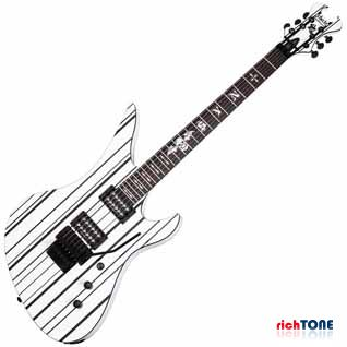 Schecter Synyster Gates Custom Guitar - White with Black Stripe