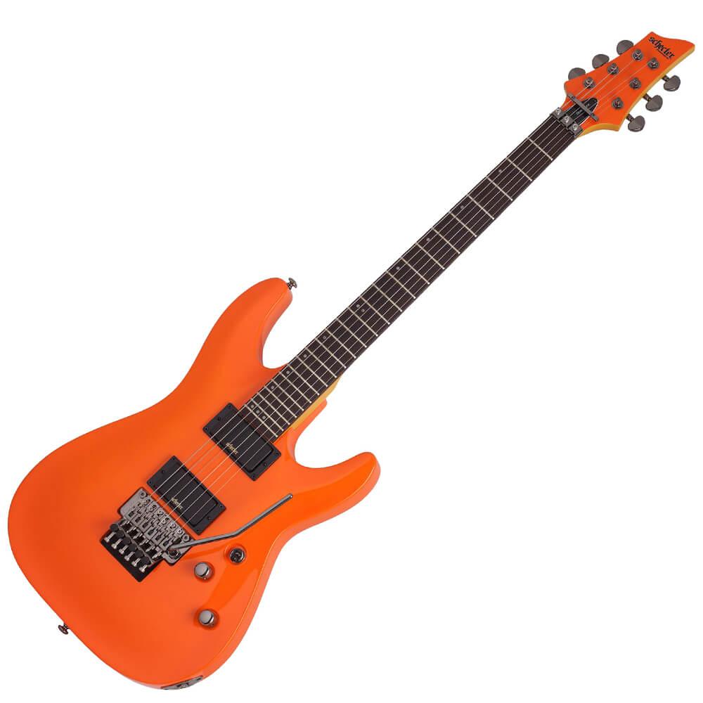 schecter demon 6 fr glut orange rich tone music. Black Bedroom Furniture Sets. Home Design Ideas