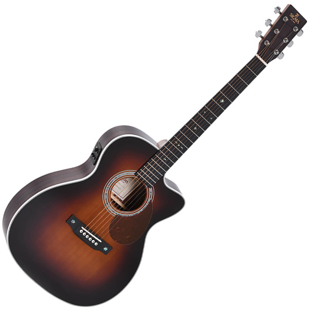 Sigma 1 Series OMTC-1E-SB Electro-Acoustic Guitar - Sunburst