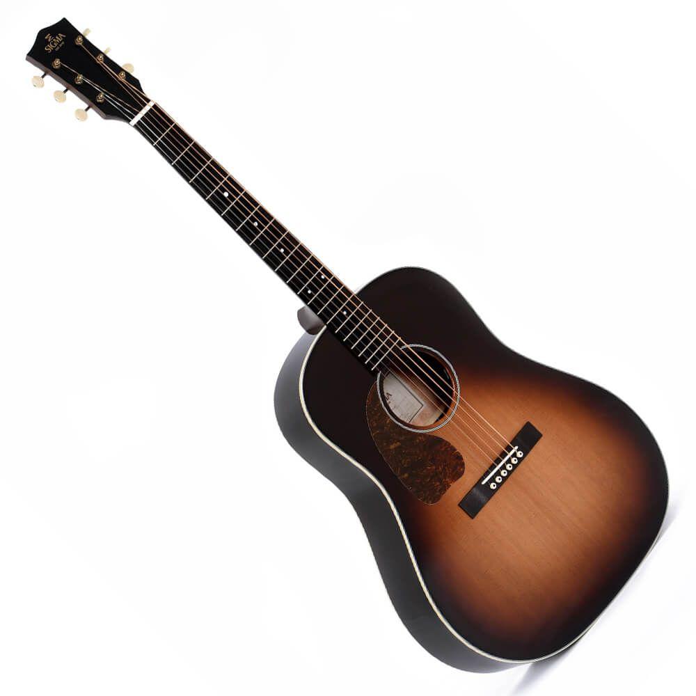 Sigma SG Series JM-SG45L+ Electro-Acoustic, Left Handed - Gloss Sunburst
