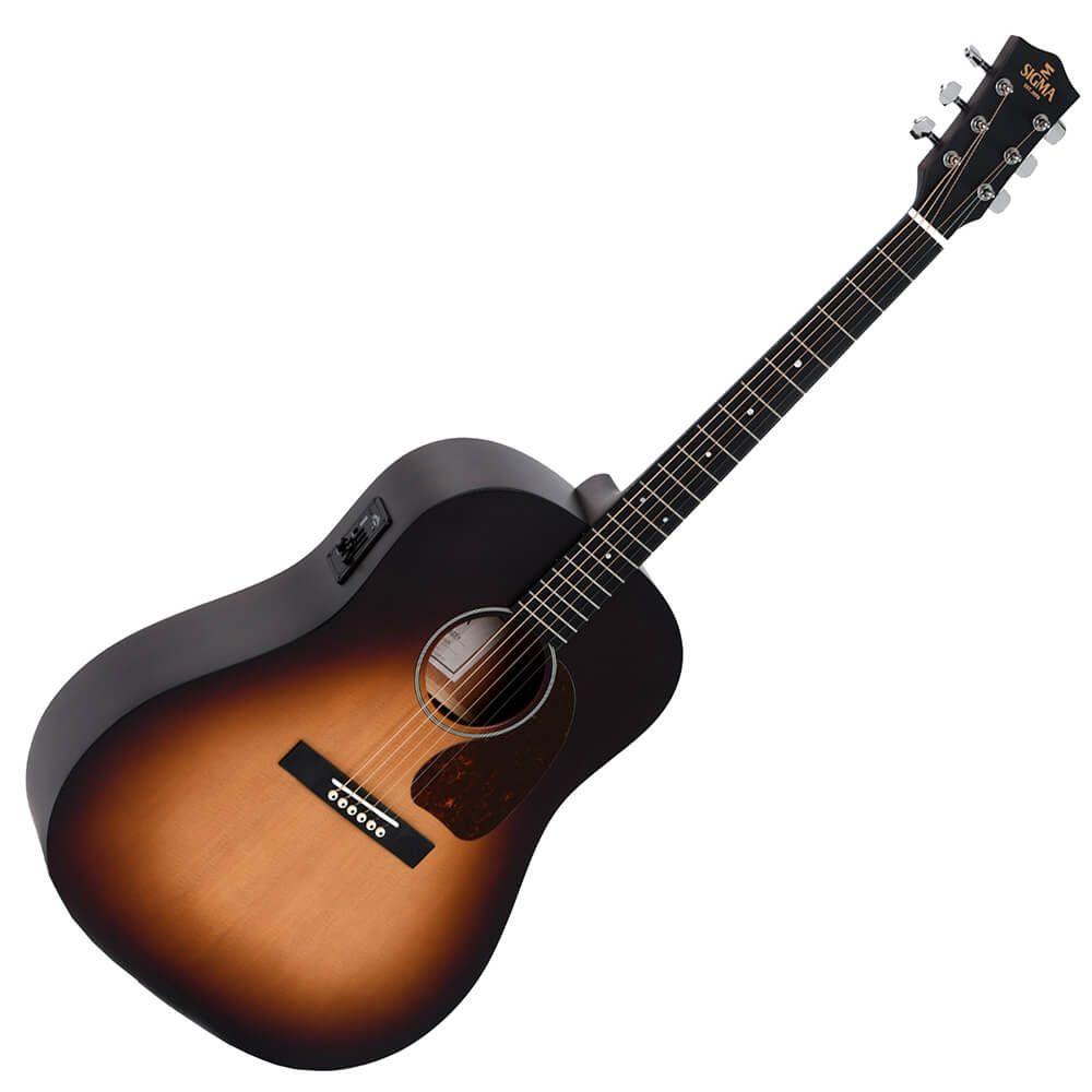 Sigma SG Series JM-SGE+ Electro-Acoustic Guitar - Satin Sunburst