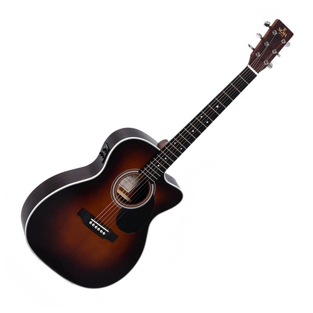 Sigma 1 Series OMTC-1STE+ Electro-Acoustic Guitar - Sunburst