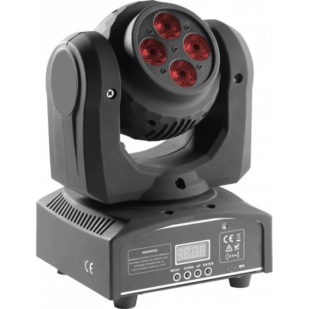 Stagg SLI-HBSPIN-0 HeadBanger Spin Double-Side Moving Head with 8 x 10W RGBW LED