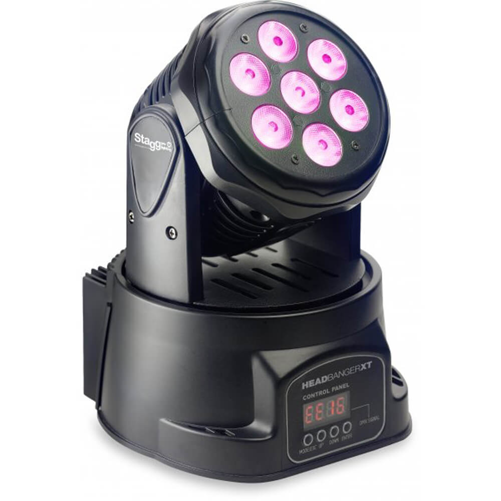 "Stagg SLI MHW HBXT-0 ""HeadBanger XT"" LED Moving Head with 7x10w RGBW"