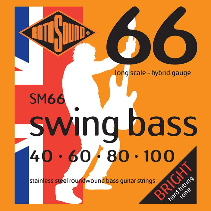 Rotosound SM66 Swing Bass 66 4-Strings, Stainless Steel, 40-100