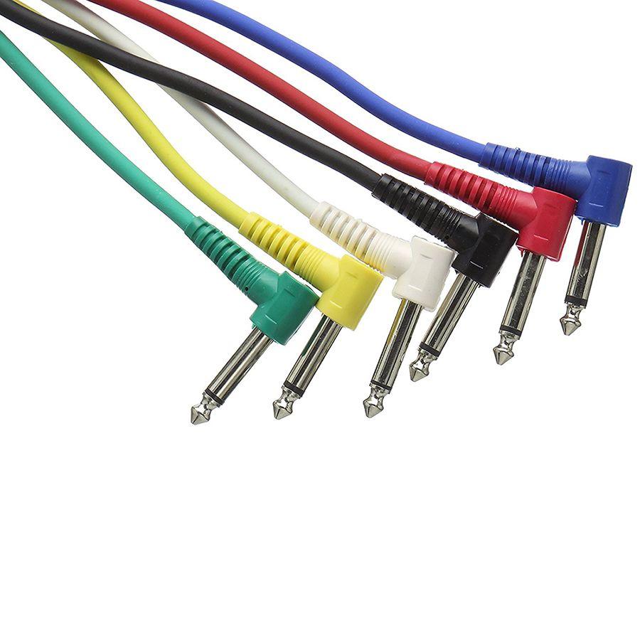 Stagg SPC030L E 6 X 30 Cm/ 1 Ft Mono Patch Cables
