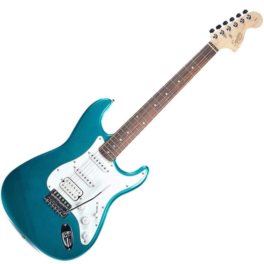 squier affinity series stratocaster hss rw race green rich tone music. Black Bedroom Furniture Sets. Home Design Ideas