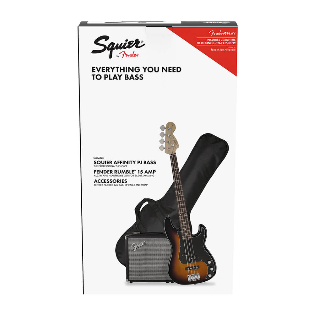 Squier Affinity Series Precision Bass PJ Pack - Brown Sunburst
