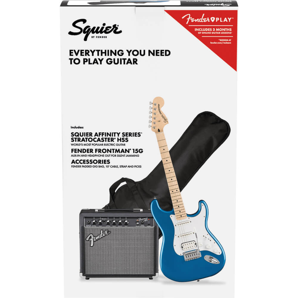 Squier Affinity Series Stratocaster HSS Pack - MN - Lake Placid Blue