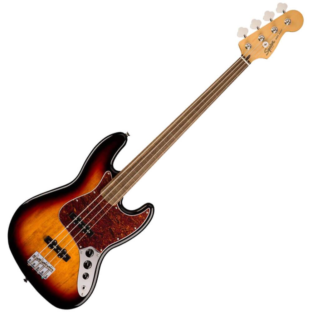Squier Classic Vibe 60s Jazz Bass Fretless - IL - 3-Colour Sunburst