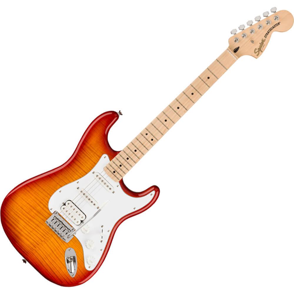 Squier Affinity Series Stratocaster FMT HSS - MN - Sienna Sunburst