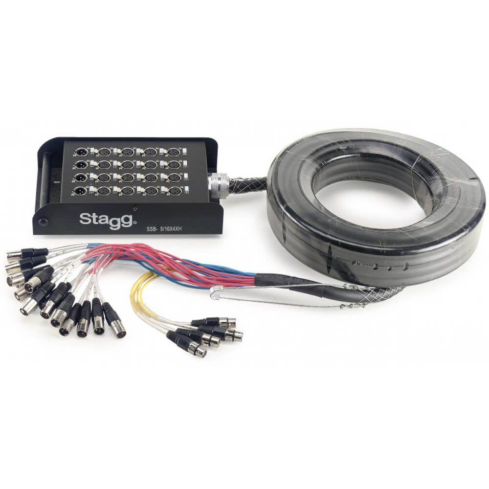 Stagg SSB-05/16X4XH S-Series Stagebox - 16x XLR F Inputs / 4x XLR M Outputs