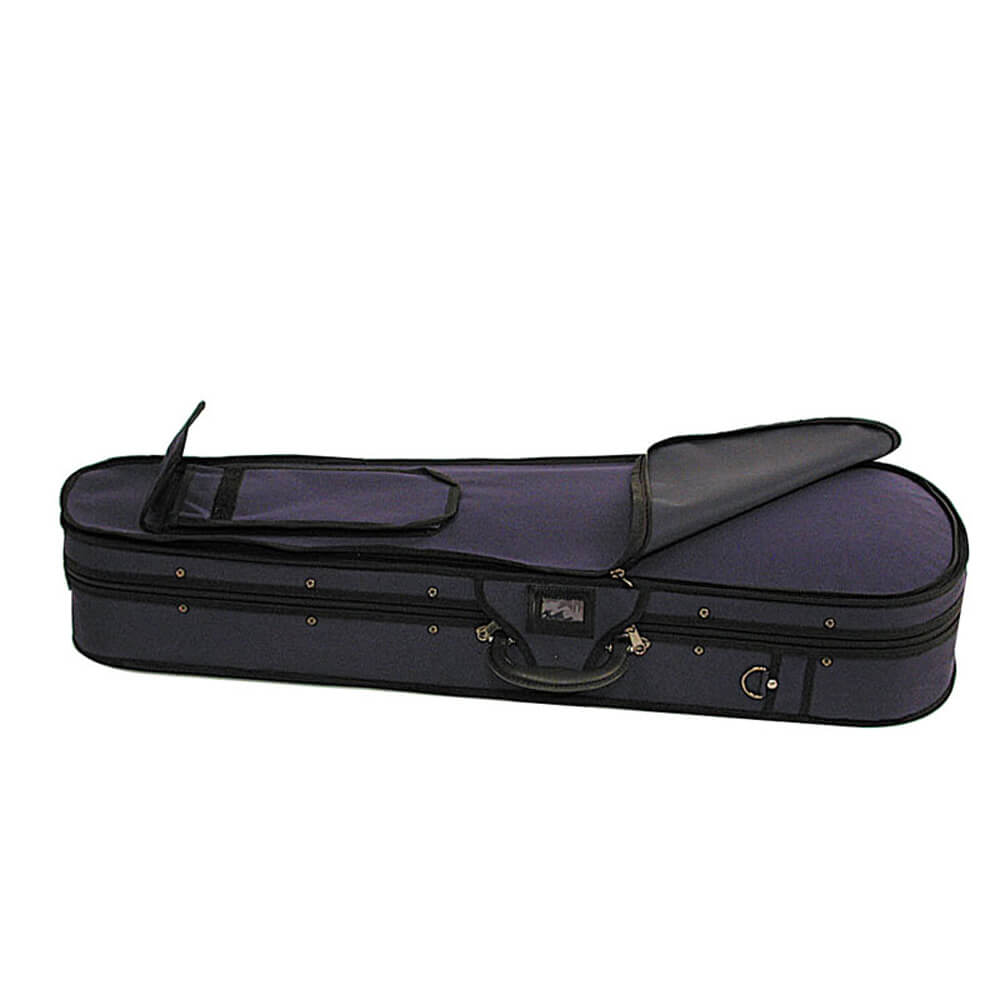 Stentor Violin Case With Integral Canvas Cover Blue 1/4