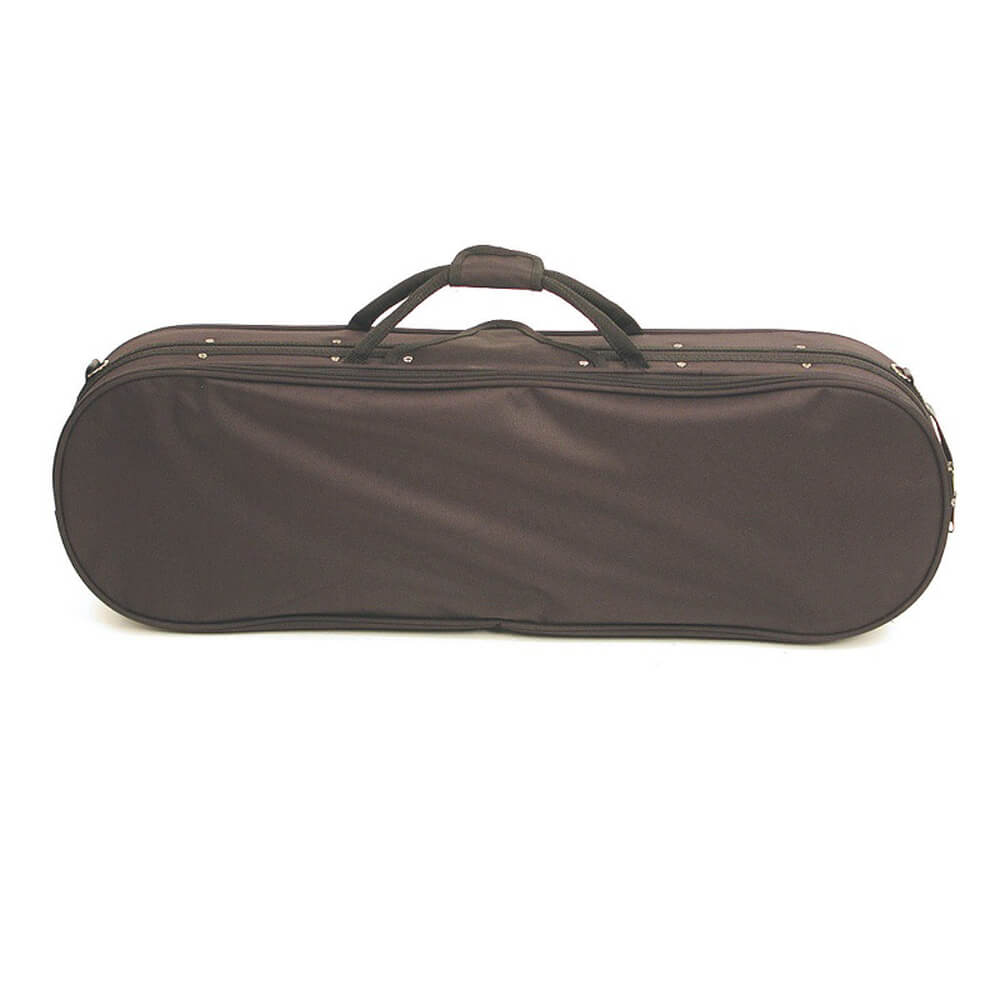 Stentor Violin Case Oblong Rounded Ends, Black Moulded Interior 3/4