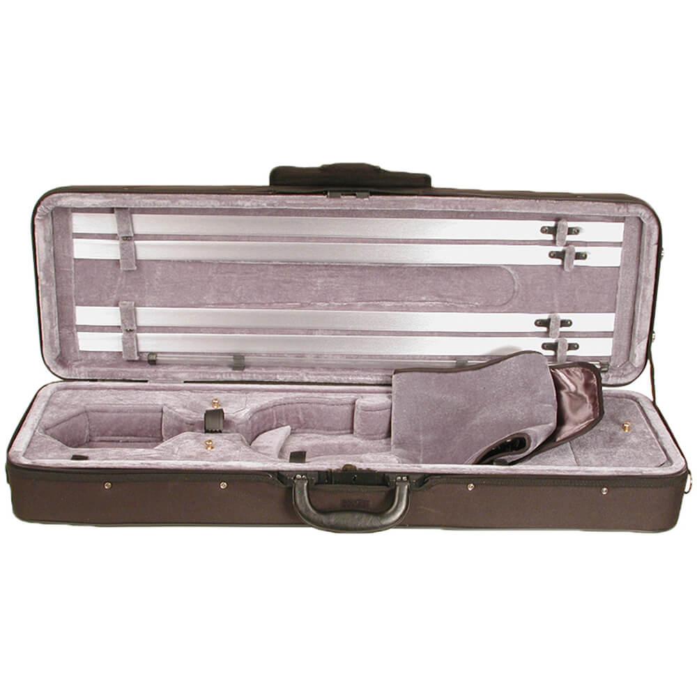 Stentor Violin Case Oblong Lightweight Deluxe, Black 3/4