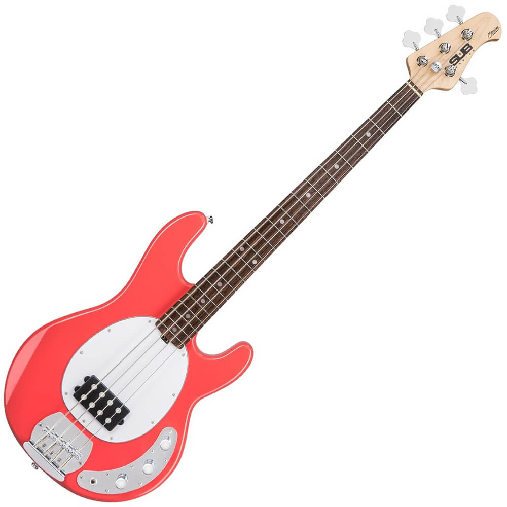 sterling by musicman stingray sub series ray4 fiesta red rich tone music. Black Bedroom Furniture Sets. Home Design Ideas