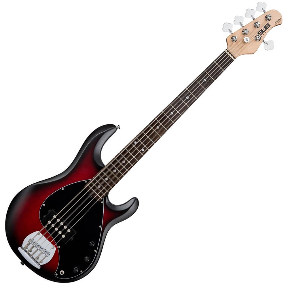 sterling by musicman stingray5 sub series ray5 ruby red burst satin rich tone music. Black Bedroom Furniture Sets. Home Design Ideas
