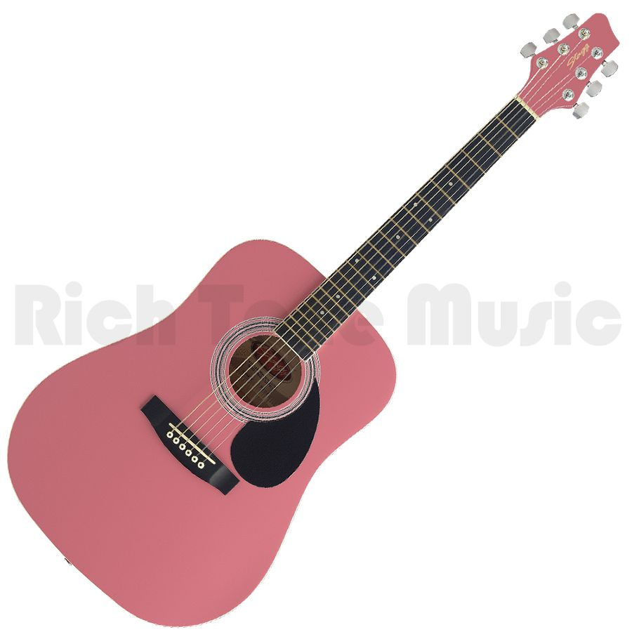 Stagg SW201 3/4 Acoustic Dreadnought Guitar - Pink | Rich ...