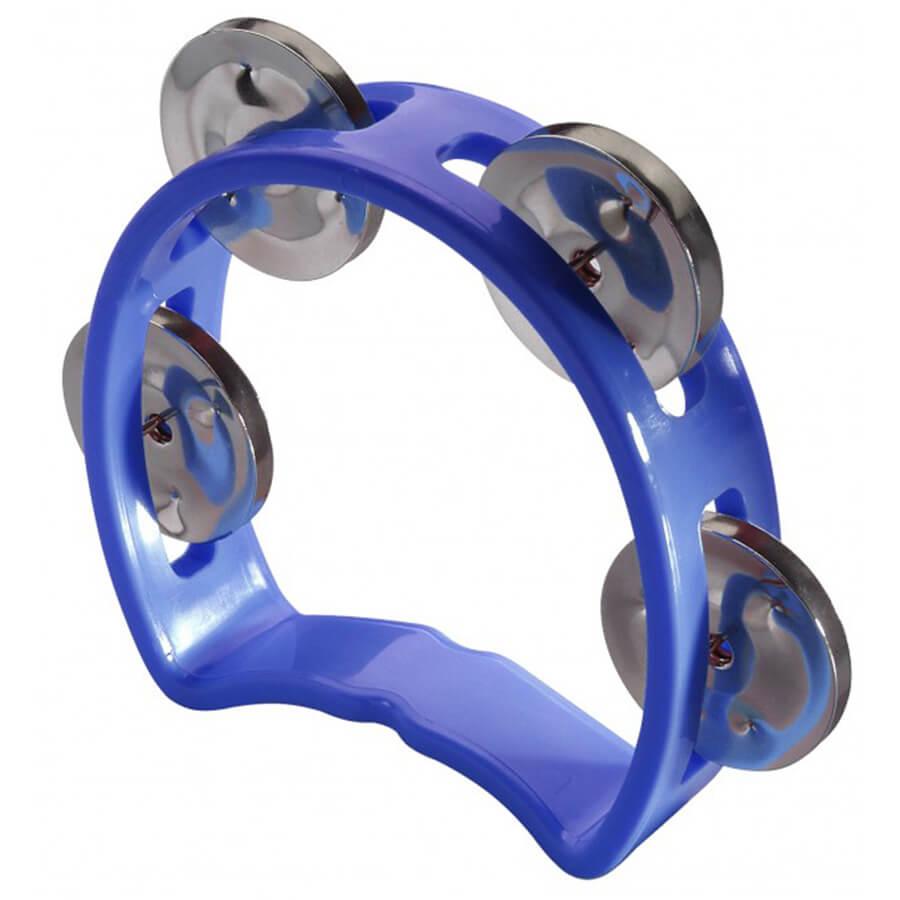 Stagg TAB-MINI/BL Cutaway Plastic Mini Tambourine, 4 Jingles - Blue