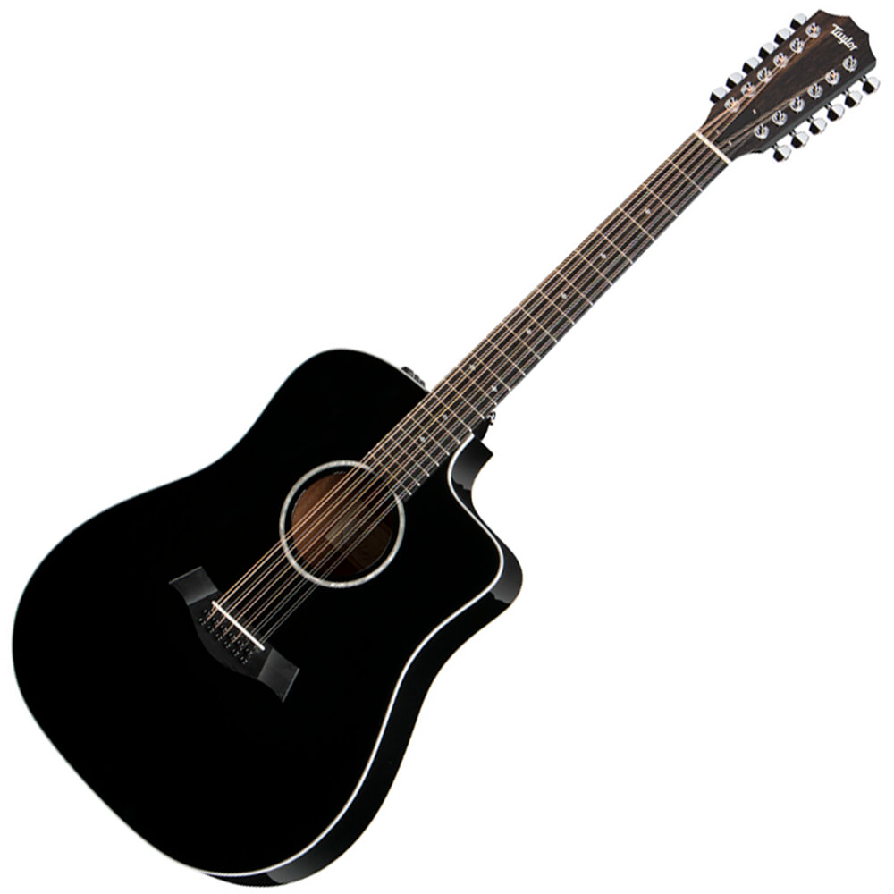 Taylor 250ce-BLK DLX Deluxe 12-String Electro-Acoustic Guitar - Black
