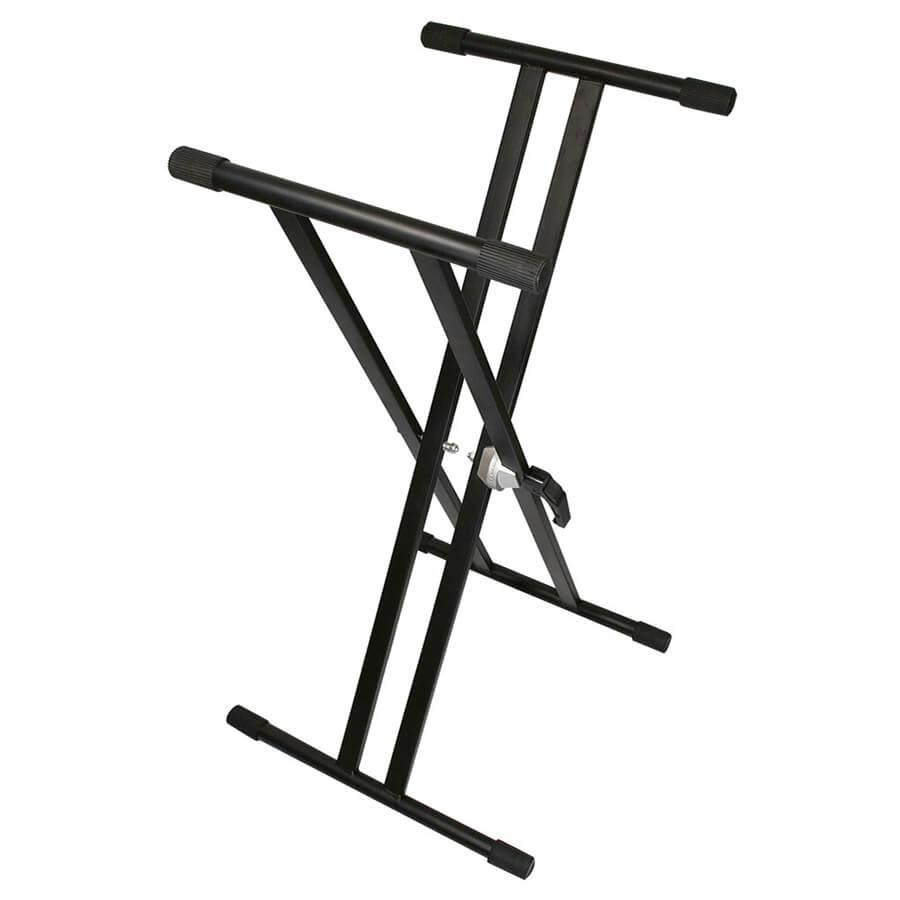 TGI TGKS2 Keyboard Stand - Double Braced - Black