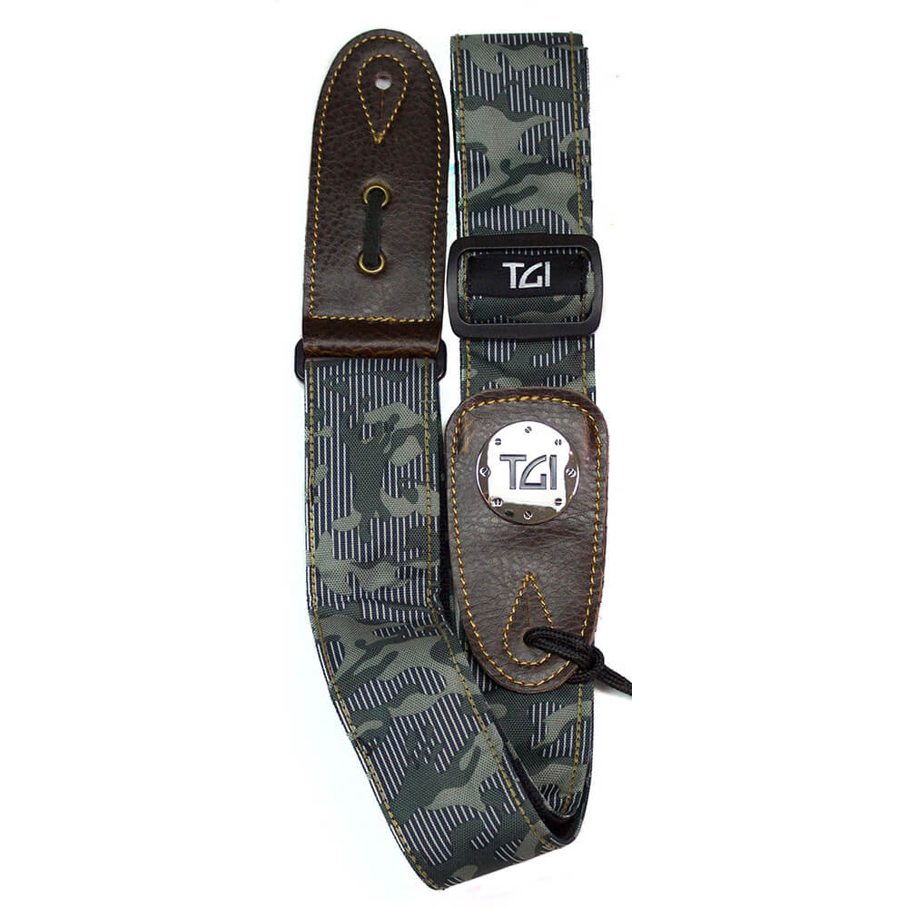 tgi guitar strap green camouflage rich tone music. Black Bedroom Furniture Sets. Home Design Ideas