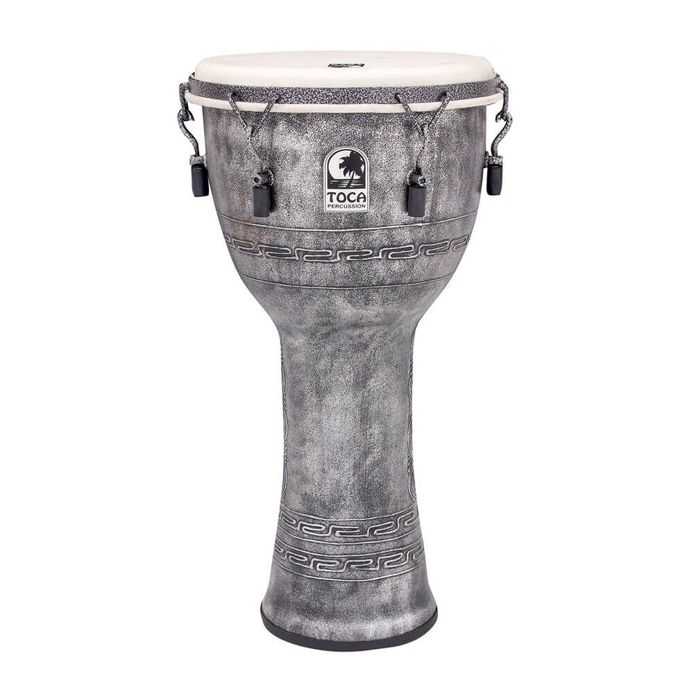 Toca SFDMX-12AS Freestyle Mechanically Tuned 12 Inch Djembe - Antique Silver