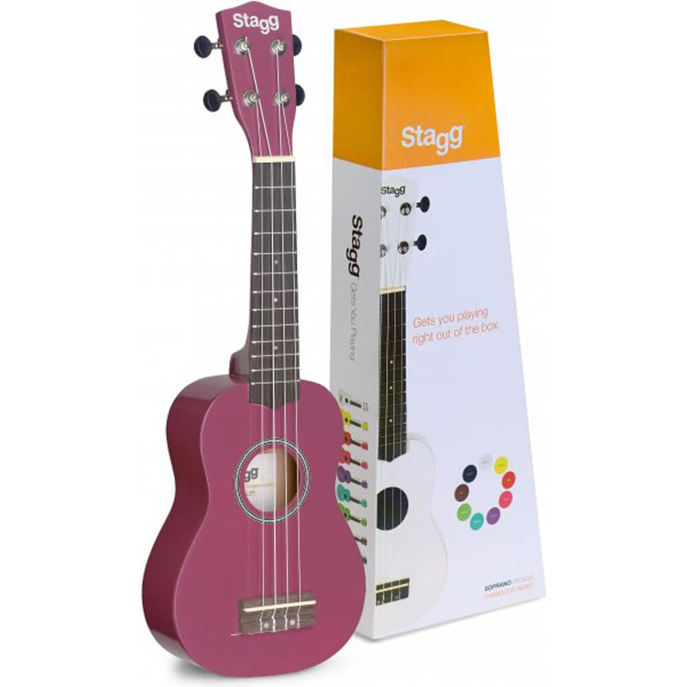 Stagg US-VIOLET - Soprano Ukulele In Black Nylon Gigbag