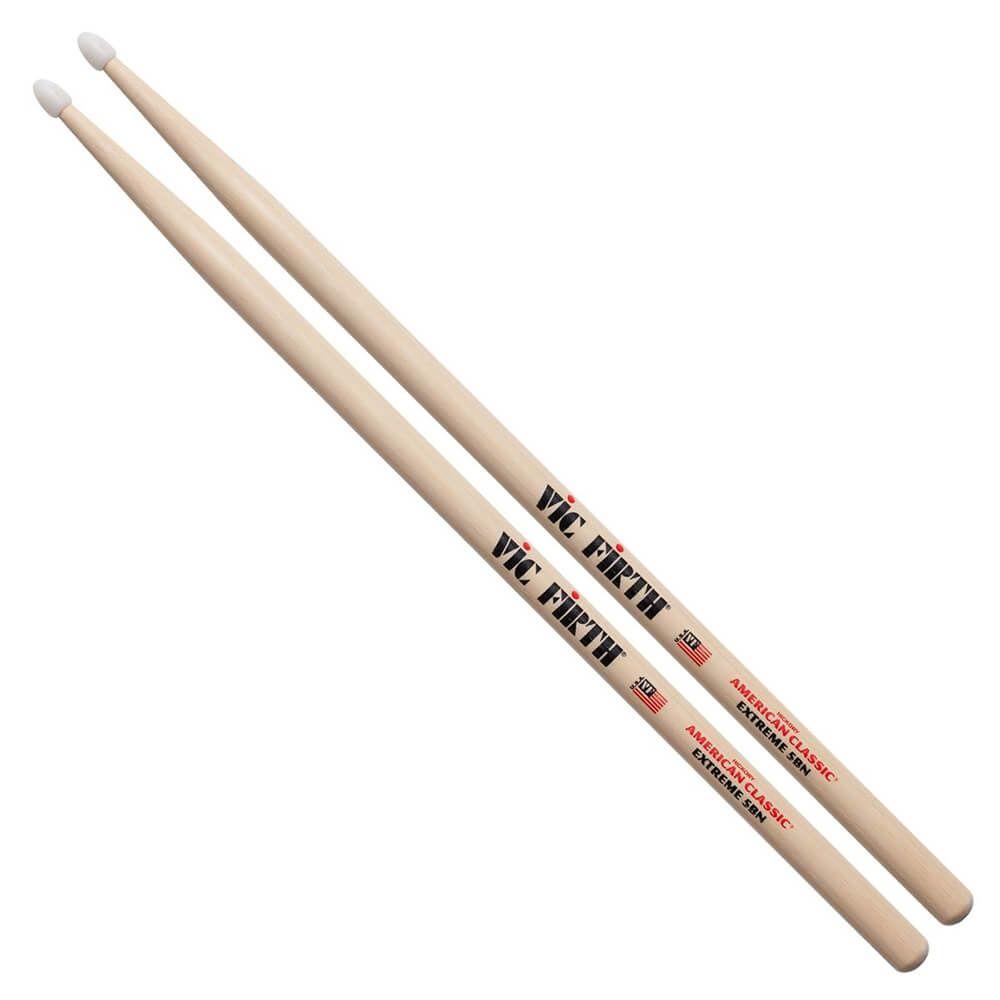 Vic Firth American Classic Extreme 5BN Drum Stick, Nylon Tip