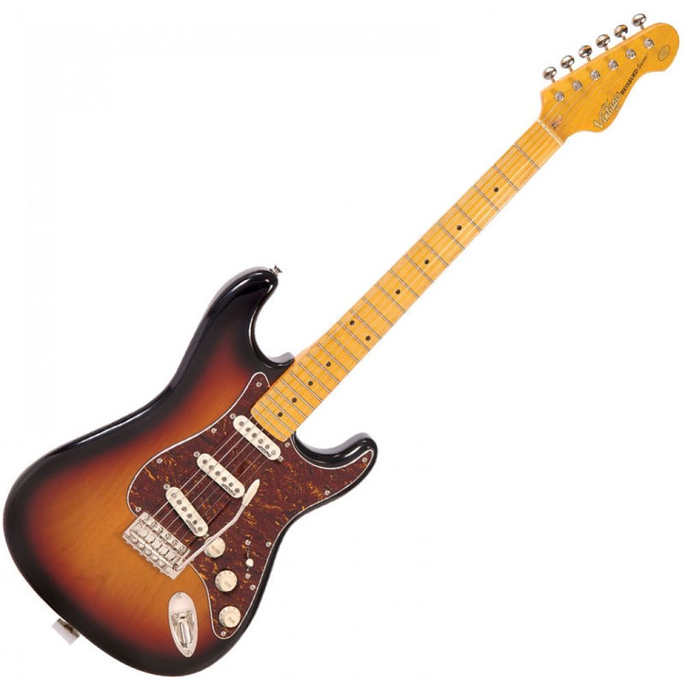 Vintage V6 Reissued Guitar - MN - Sunburst