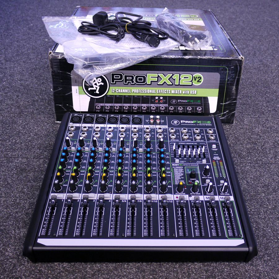 mackie profx12v2 12 channel effects mixer with usb w box ex demo rich tone music. Black Bedroom Furniture Sets. Home Design Ideas