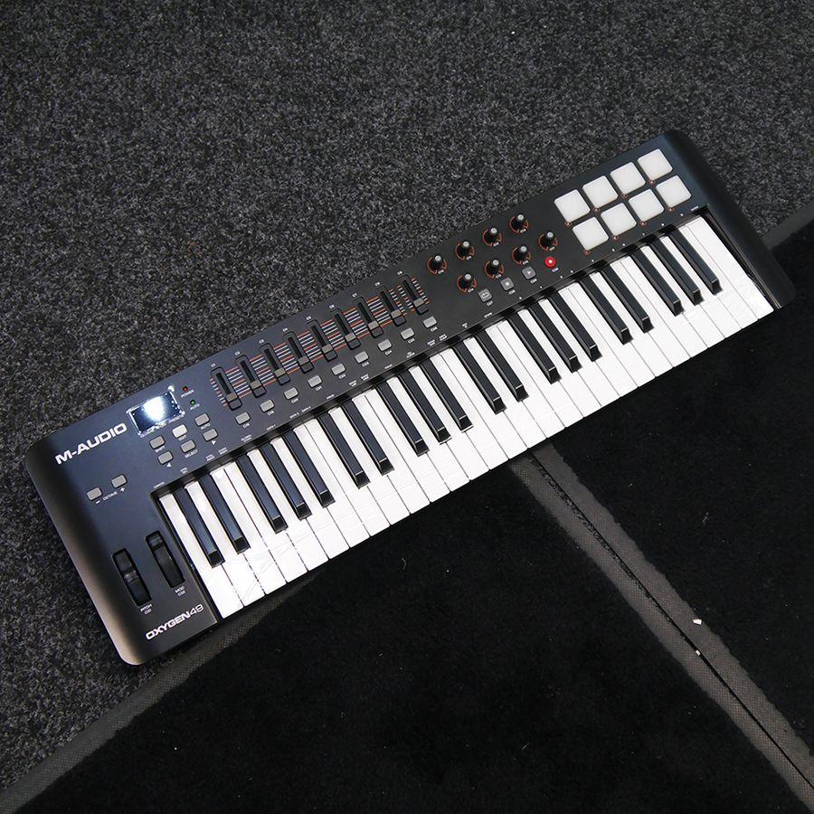 m audio oxygen 49 usb midi keyboard controller w box ex demo rich tone music. Black Bedroom Furniture Sets. Home Design Ideas