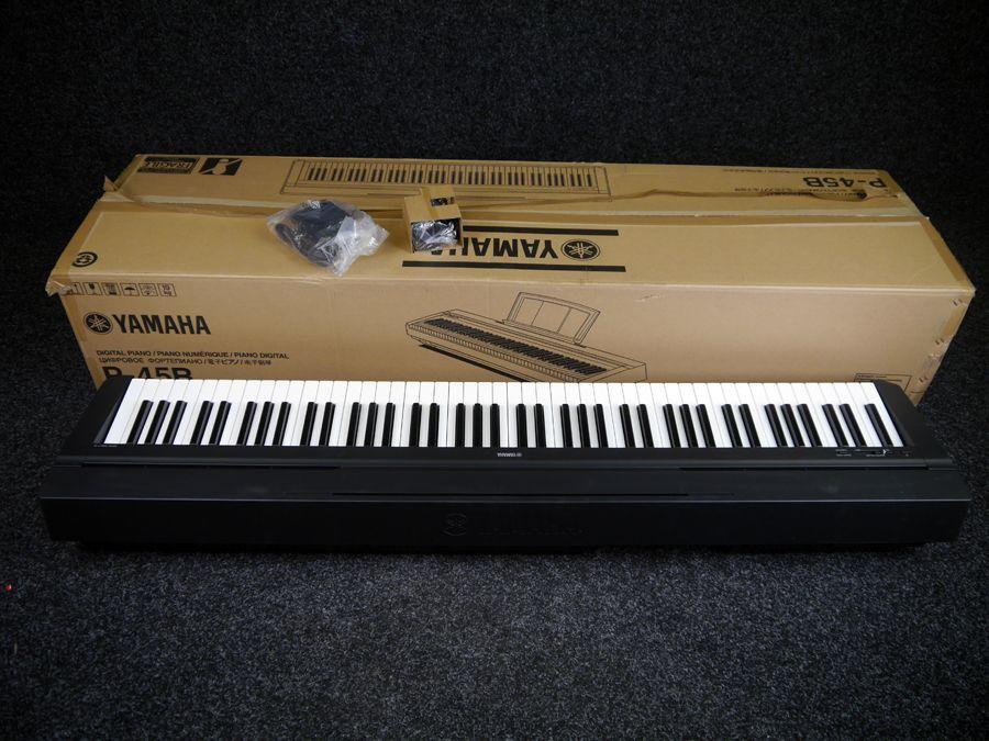 Yamaha p 45 compact digital piano black w box ex demo for Yamaha p 45b