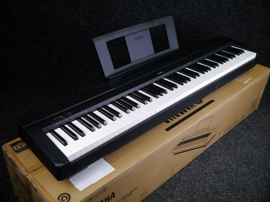 yamaha p 45b compact digital piano black w box ex. Black Bedroom Furniture Sets. Home Design Ideas