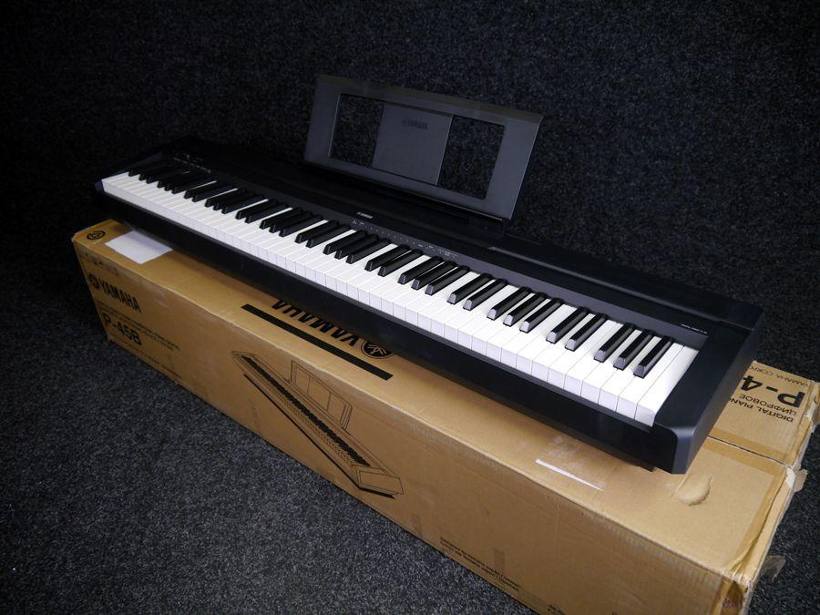 yamaha p 45b compact digital piano black w box ex. Black Bedroom Furniture Sets. Home Design Ideas