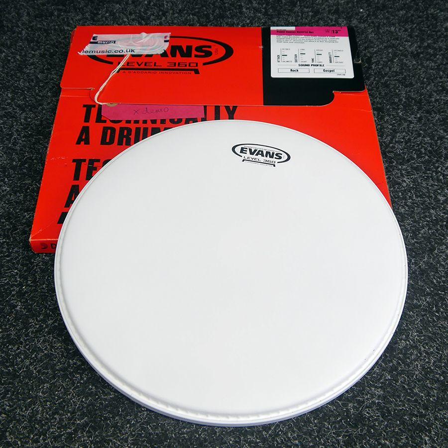 evans 13inch hydrolic glass drum head w box open box rich tone music. Black Bedroom Furniture Sets. Home Design Ideas