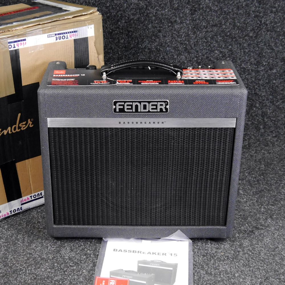 fender bassbreaker 15 combo amp w box ex demo rich tone music. Black Bedroom Furniture Sets. Home Design Ideas