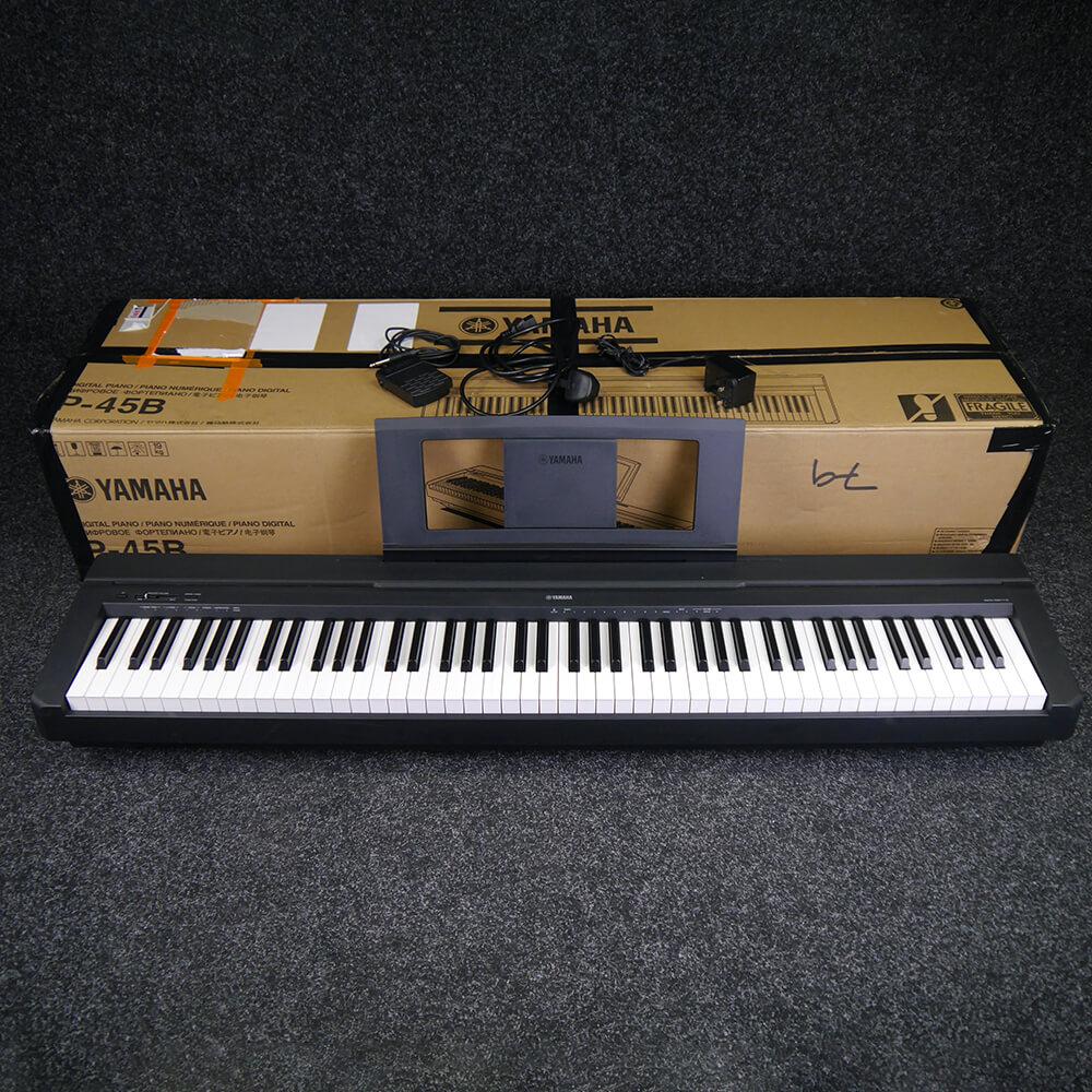 yamaha p45b compact digital piano black w box psu ex demo rich tone music. Black Bedroom Furniture Sets. Home Design Ideas