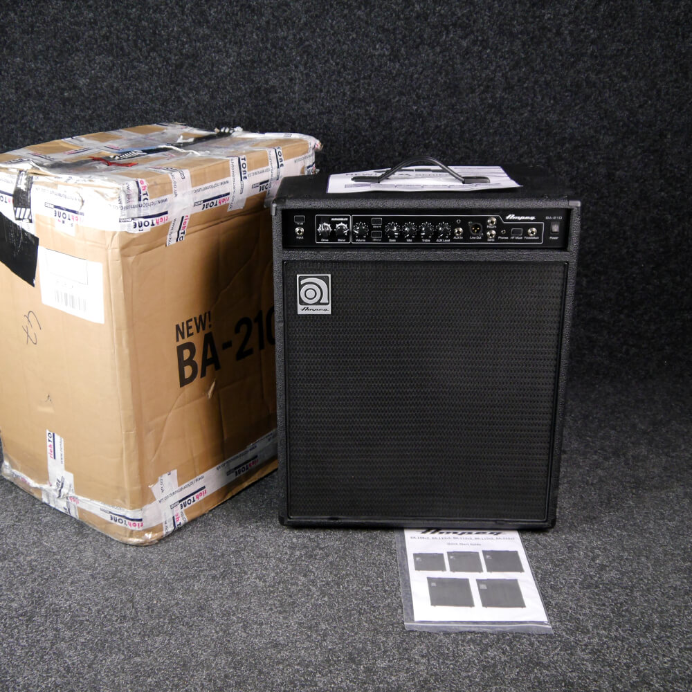ampeg ba 210 v2 bass combo amp w box ex demo rich tone music. Black Bedroom Furniture Sets. Home Design Ideas