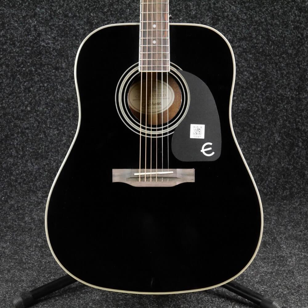 epiphone pro 1 plus acoustic ebony ex demo rich tone music. Black Bedroom Furniture Sets. Home Design Ideas