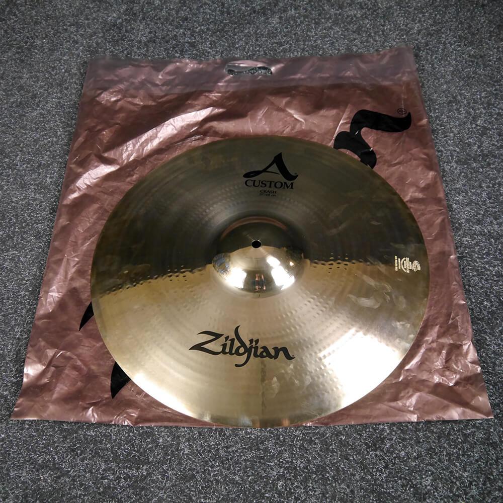 Zildjian 19″ A Custom Crash Cymbal - Brilliant Finish w/Bag - Ex Demo
