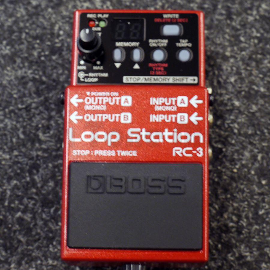 boss rc 3 loop station fx pedal ex demo rich tone music. Black Bedroom Furniture Sets. Home Design Ideas