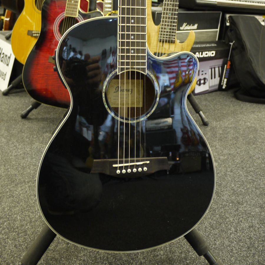 ibanez aeg10ii bk acoustic guitar ex demo rich tone music. Black Bedroom Furniture Sets. Home Design Ideas